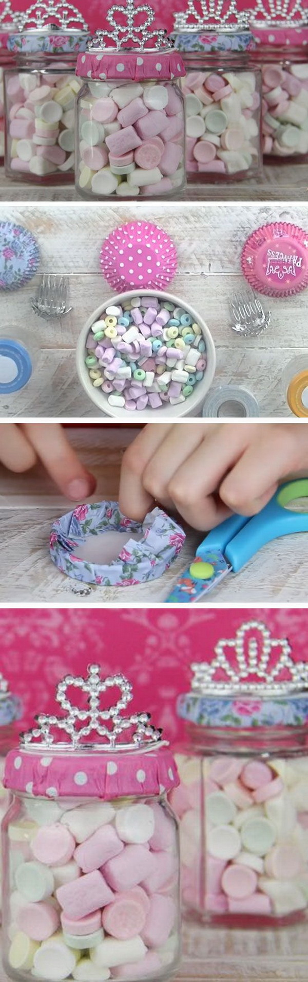 Princess Party Treat Jars.