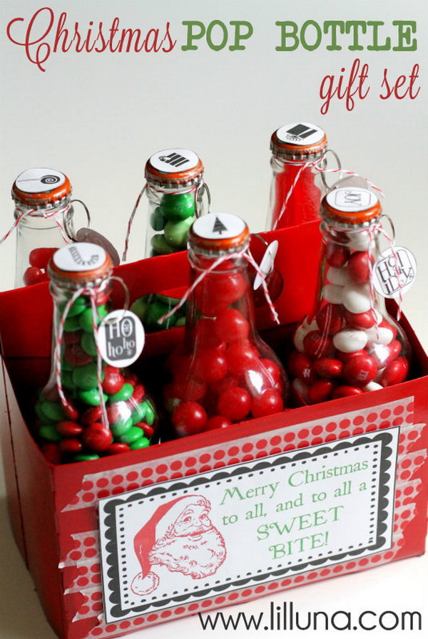 Christmas Neighbor Gift Ideas: Christmas Pop Bottle Gift Set