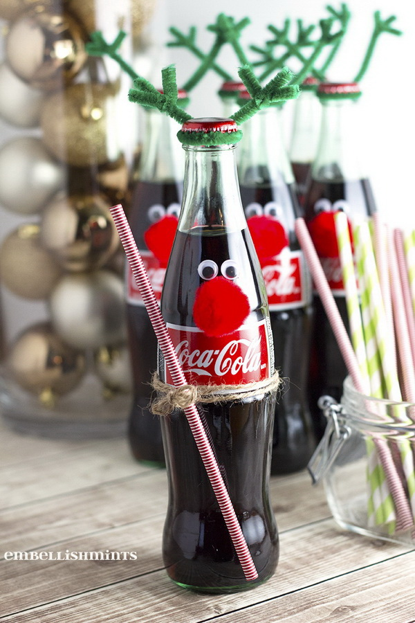 Easy Coke Bottle Reindeer.