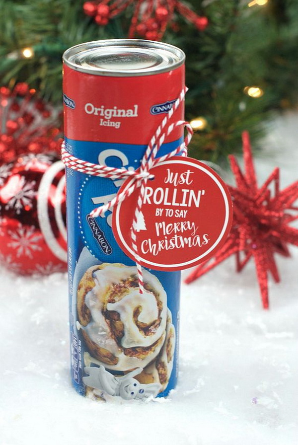 Christmas Neighbor Gift Ideas: Punny Neighbor Gift Idea: Cinnamon Rolls