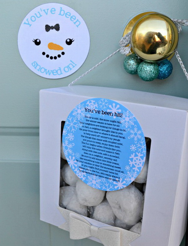 Christmas Neighbor Gift Ideas: You've been snowed on