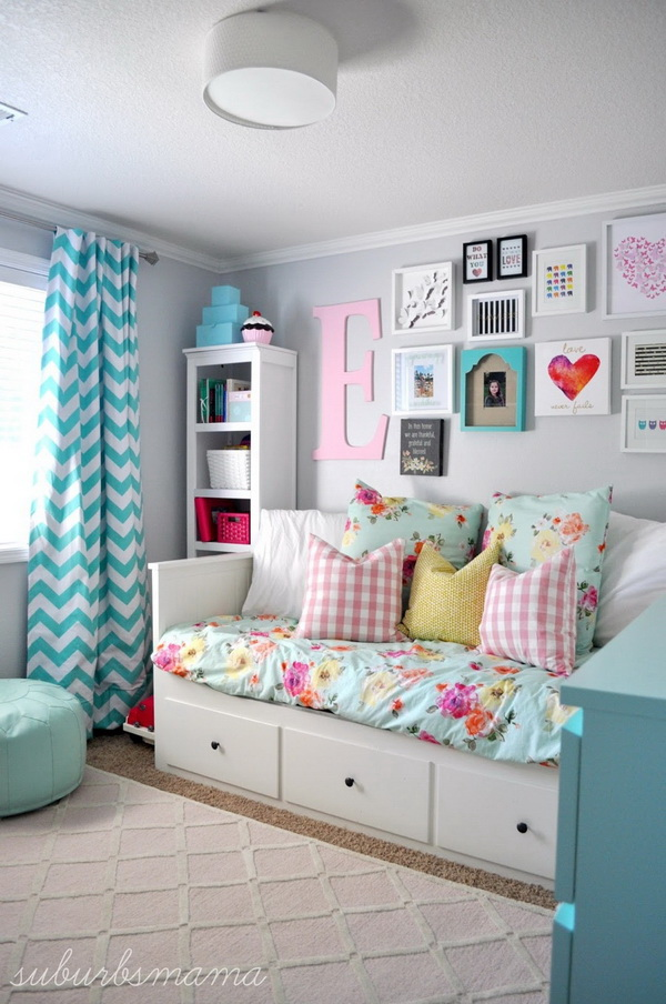 Teen Girl's Room Resting Corner.