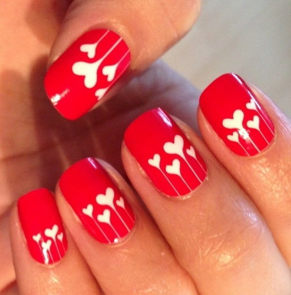 Romantic Valentine's Nail Art Designs.