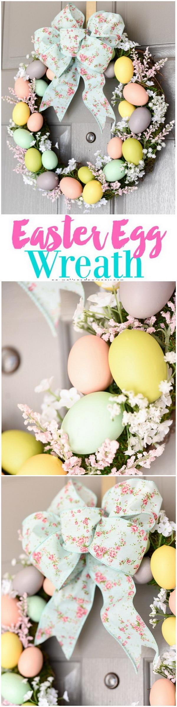 DIY Easter Wreath Ideas: DIY Easter Egg Wreath.