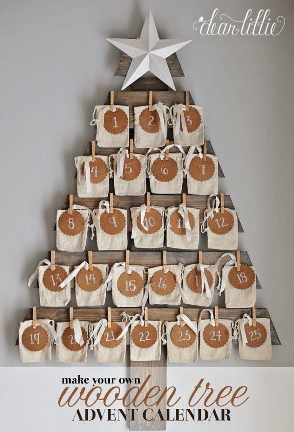 Wooden Tree Advent Calendar.
