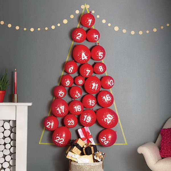 Balloon Tree Advent Calenda.