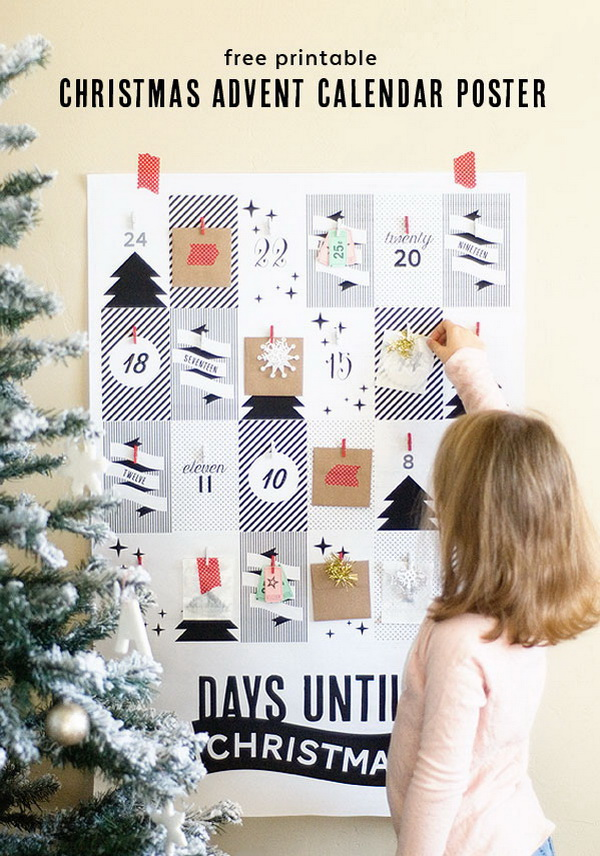 Christmas Advent Calendar Poster.