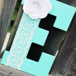 20+ Pretty DIY Decorative Letter Ideas & Tutorials