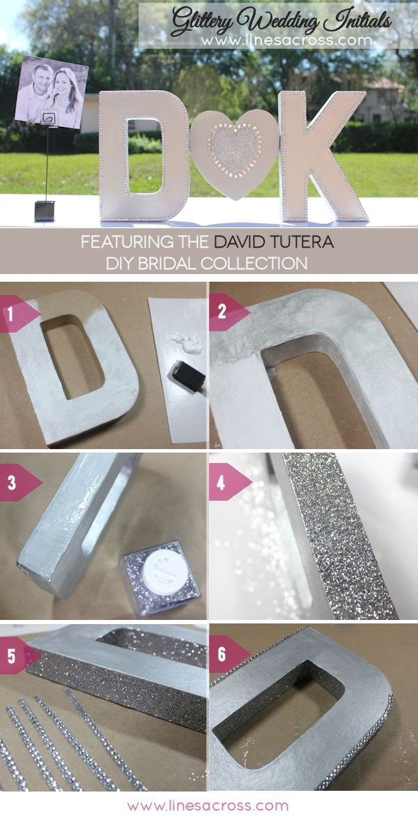DIY Sparkling Metallic Wedding Letters. Create a nice sparkling, kind of romantic looking text effect for your wedding with these decorative mentallic letters!