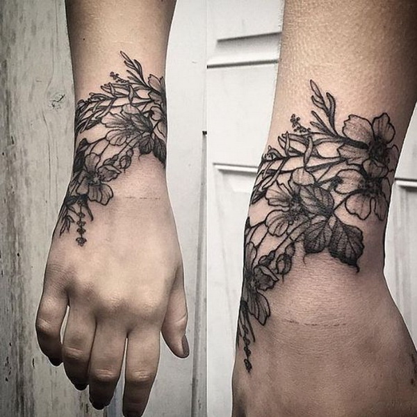 Floral Wrist Tattoo. 30+ Beautiful Flower Tattoo Designs.