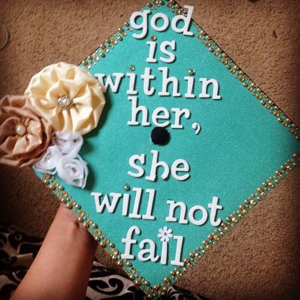 Shabby Chic Style Graduation Cap.