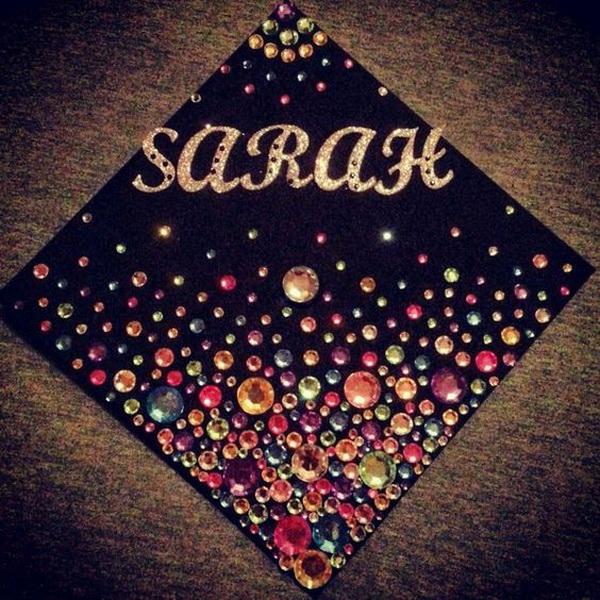 Luxury Rhinestone Graduation Cap.