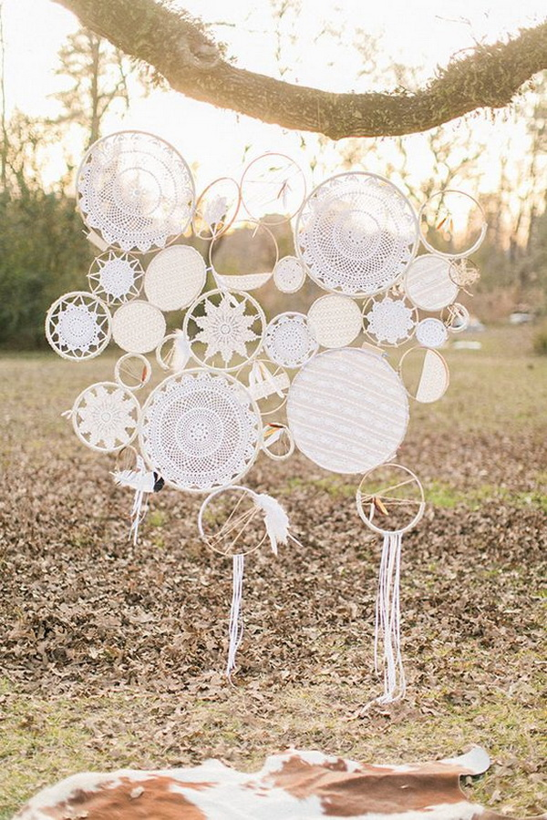 Dreamcatcher Photo Booth Backdrop.