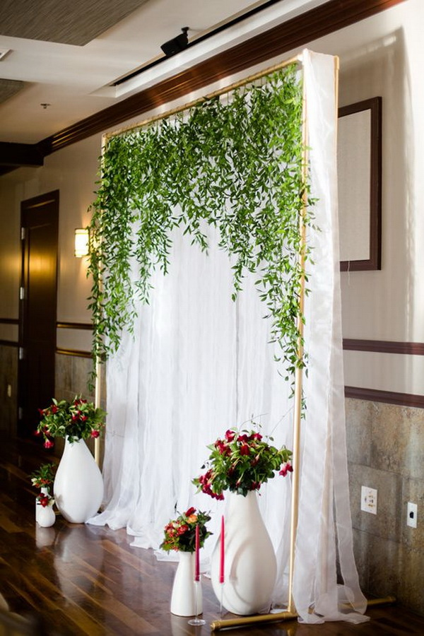 Vine Wedding Backdrop.