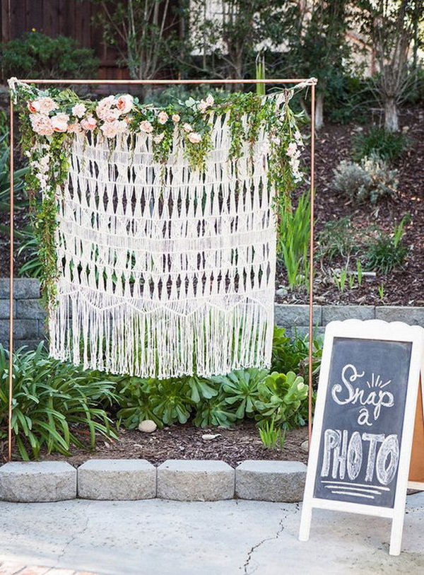 Shabby Chic Tassels and Flowers Photo Backdrop.