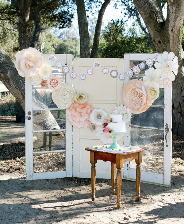 Paper Flower Photo Backdrop.