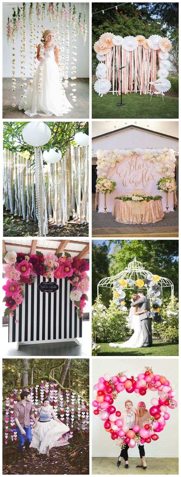Pretty Photo Booth Backdrop Ideas.