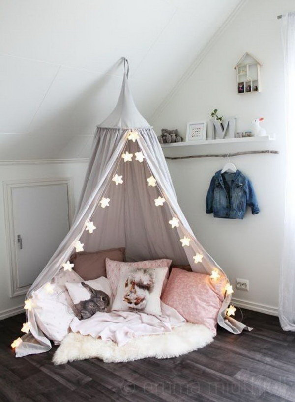 Cutest Kid's Reading Canopy Nook.