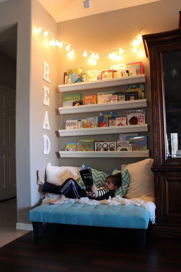 Cute Lighting Idea for Reading Nook.