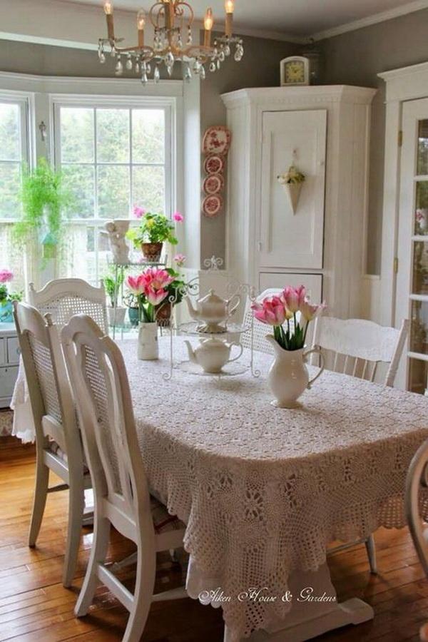 Beautiful Shabby Chic Dining Area.