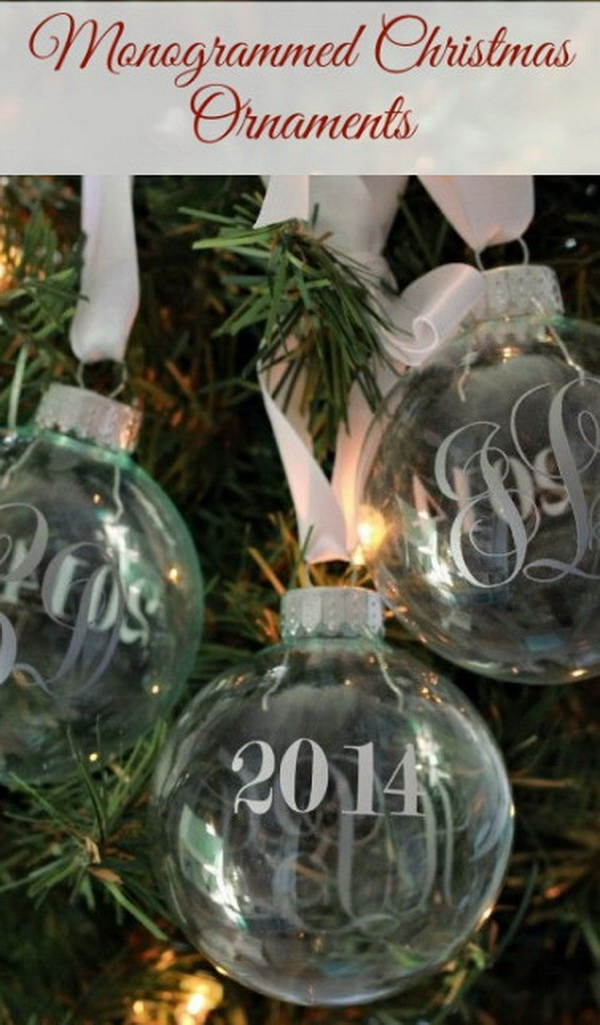 Monogrammed Christmas Ornaments.