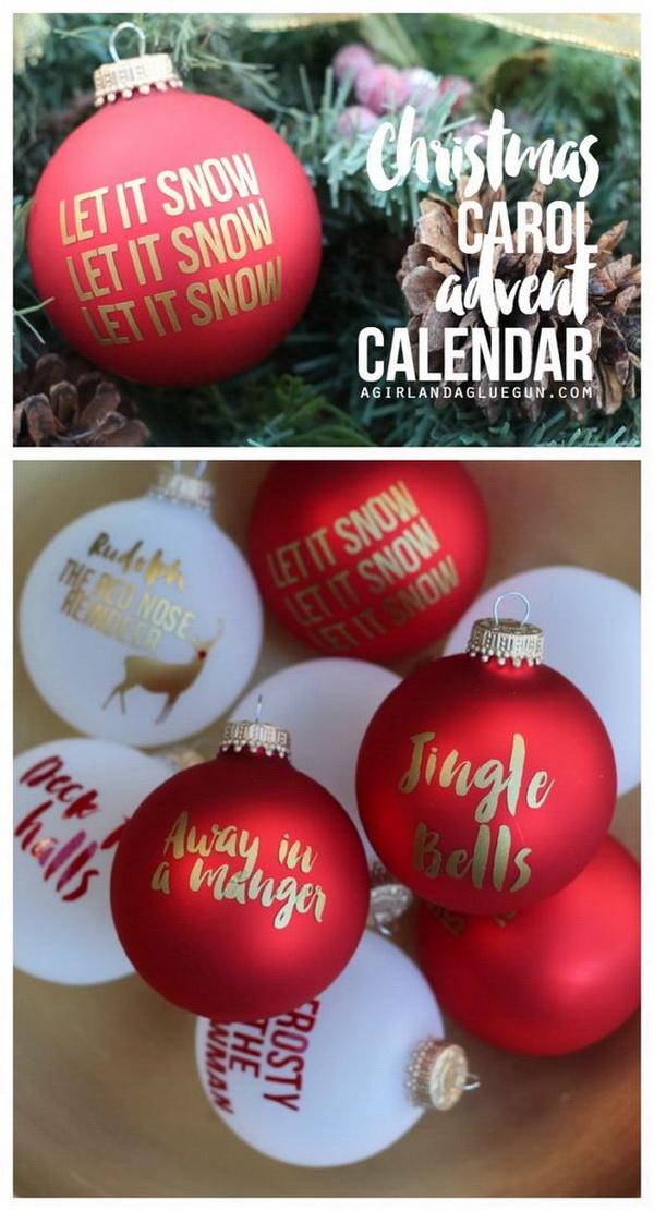 Christmas ornament Advent Calendar.