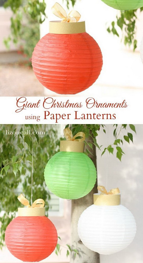 Paper Lantern Christmas Ornaments.