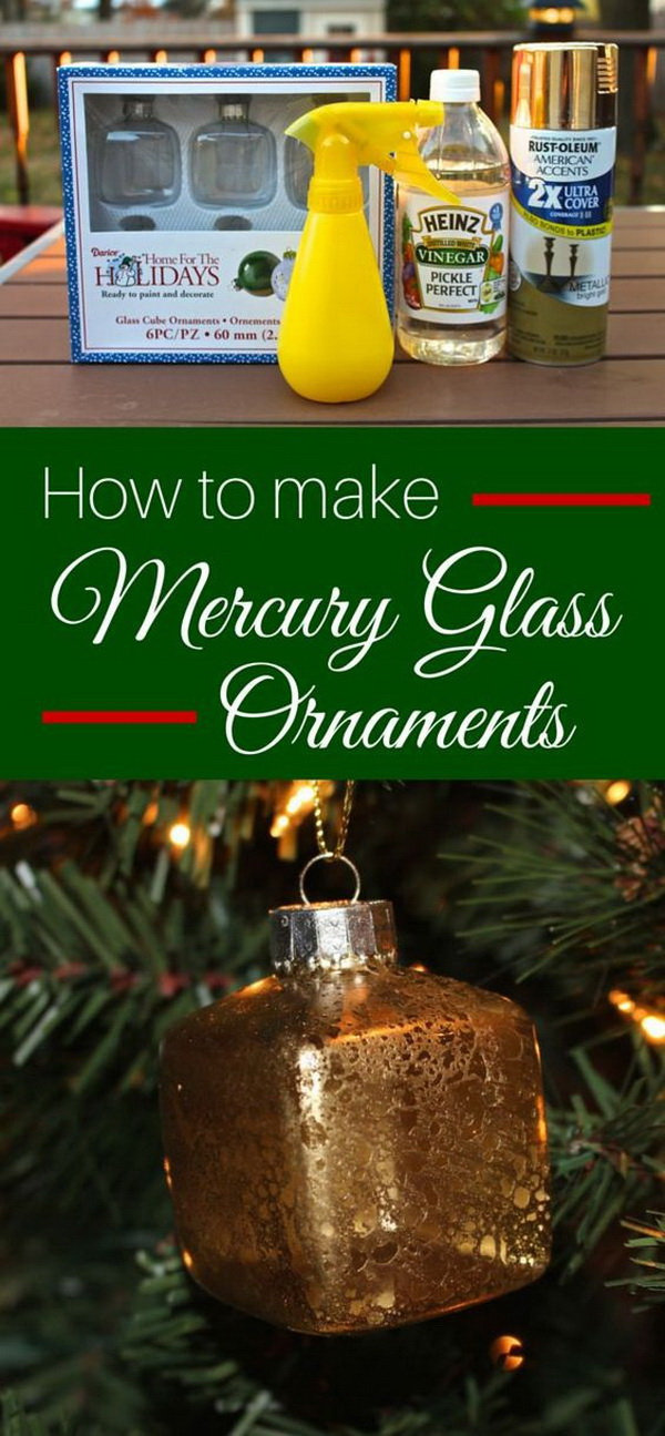 Mercury Glass Ornament.