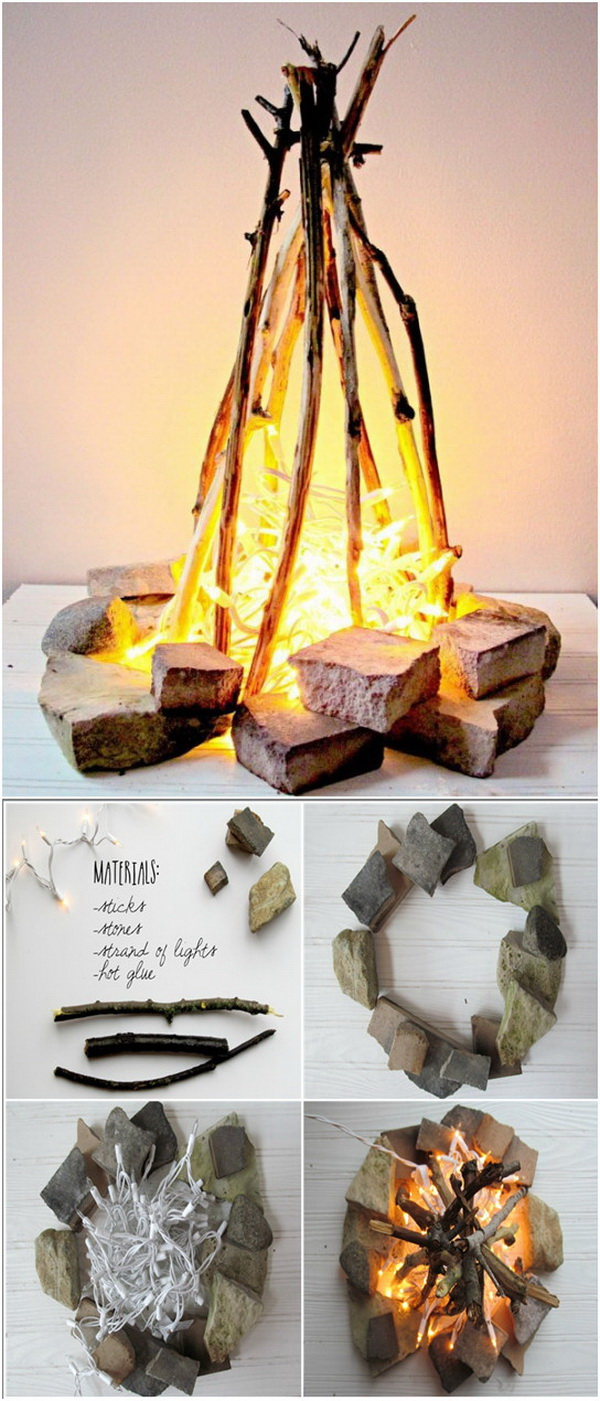DIY Flameless Fire Pit.