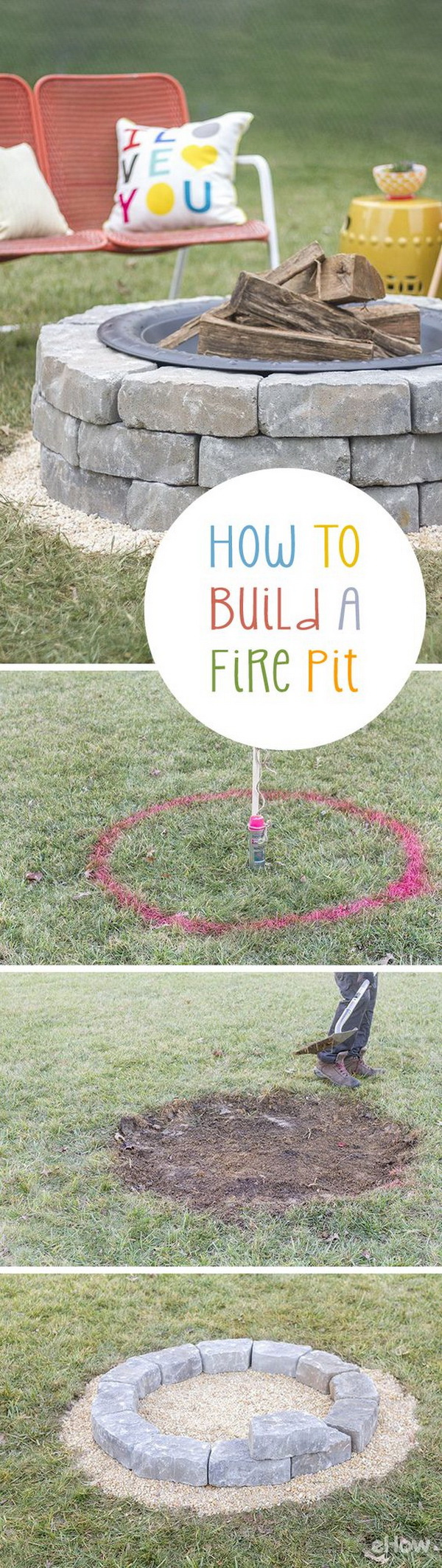 Easy Backyard Fire Pit.