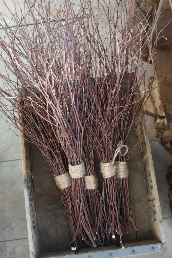 Auburn Branches Centerpieces. These auburn branches will make pretty centerpieces for any fall home decor.
