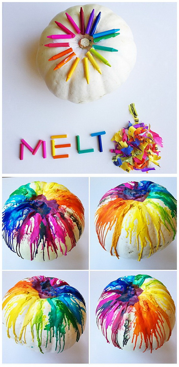 Melted Crayon Pumpkin.