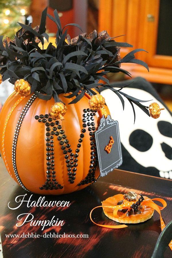Halloween Monogrammed Pumpkin.