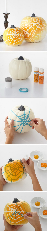 Ombre Spiderweb Pumpkins.