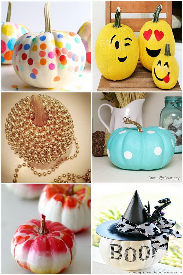 No Carve Pumpkin Decoration Ideas & Tutorials.