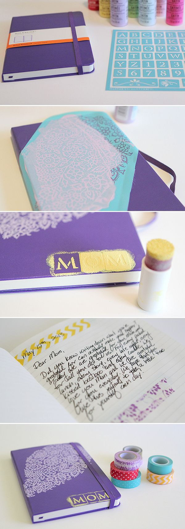 DIY Gratitude Journal. Make a gratitude journal with fine crafty touch and decoration for Mother's Day. Super easy to make and will surely bring some smile on your mom's face on her special day!