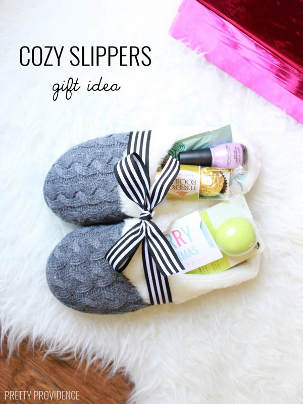 Cozy Slippers Gift Idea A Fun Way To Give Gifts With This Slipper