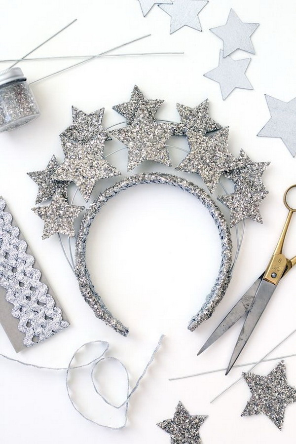 New Year's Eve Star Crown Headband. Another stunning DIY accessorie for teenage girls! Perfect for costumes, cosplay, and special occasions like a New Year's party!