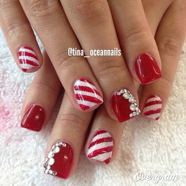 65+ Festive Christmas Nail Art Designs