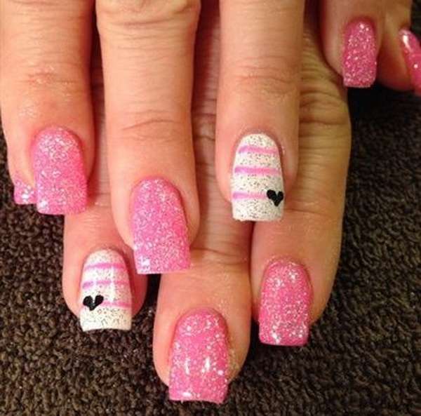 valentines nail art 70 s day nail ideas listing more 13226