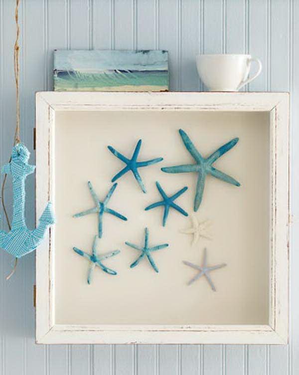 DIY Starfish Shadow Box.