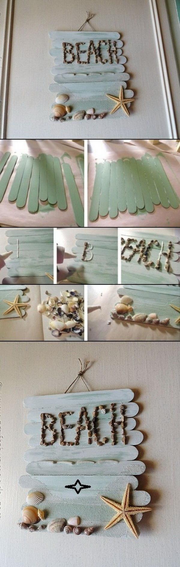 DIY Craft Stick Wall Art.