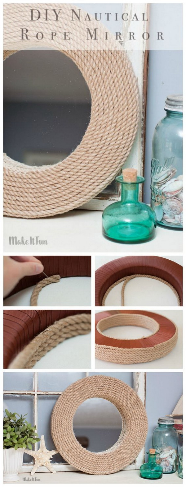 DIY Mirror Project – Nautical Style<.