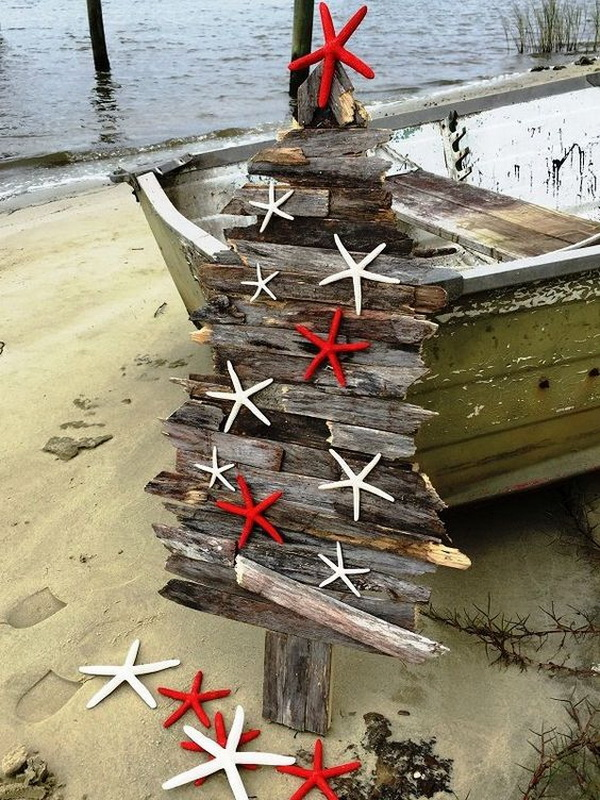 Handcrafted Coastal Holiday Tree.