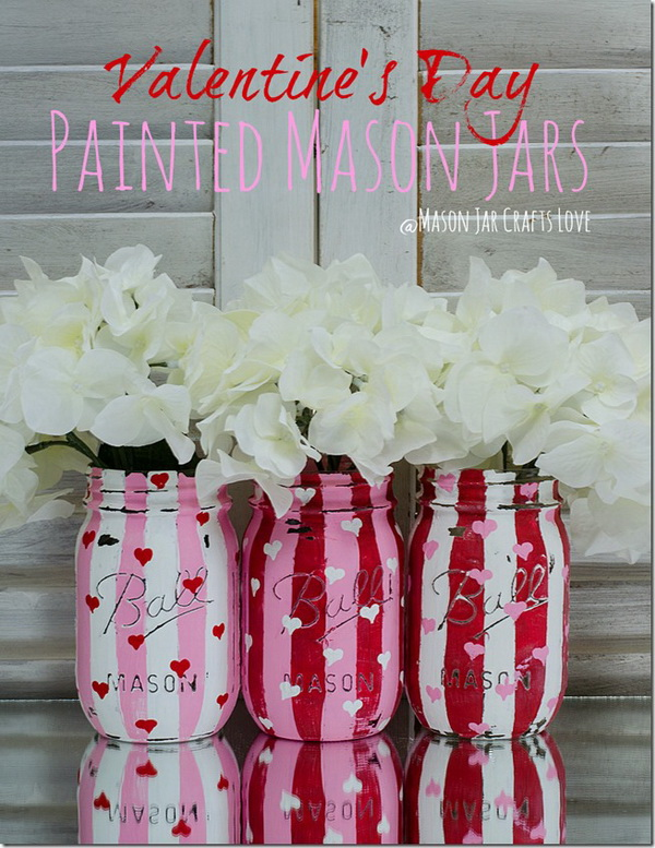 Valentine Heart Jars.