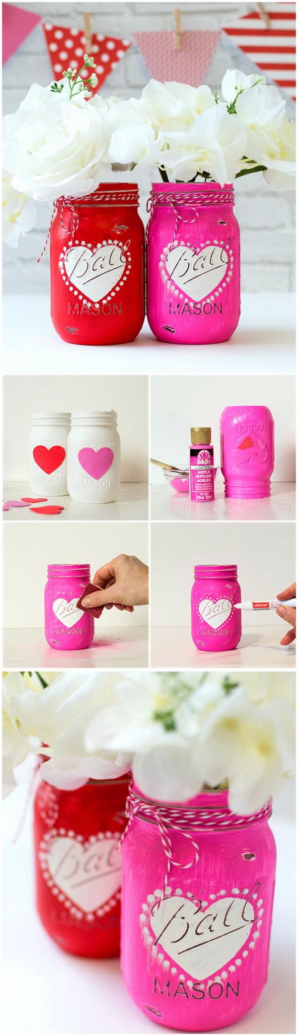 Heart Jar Craft.