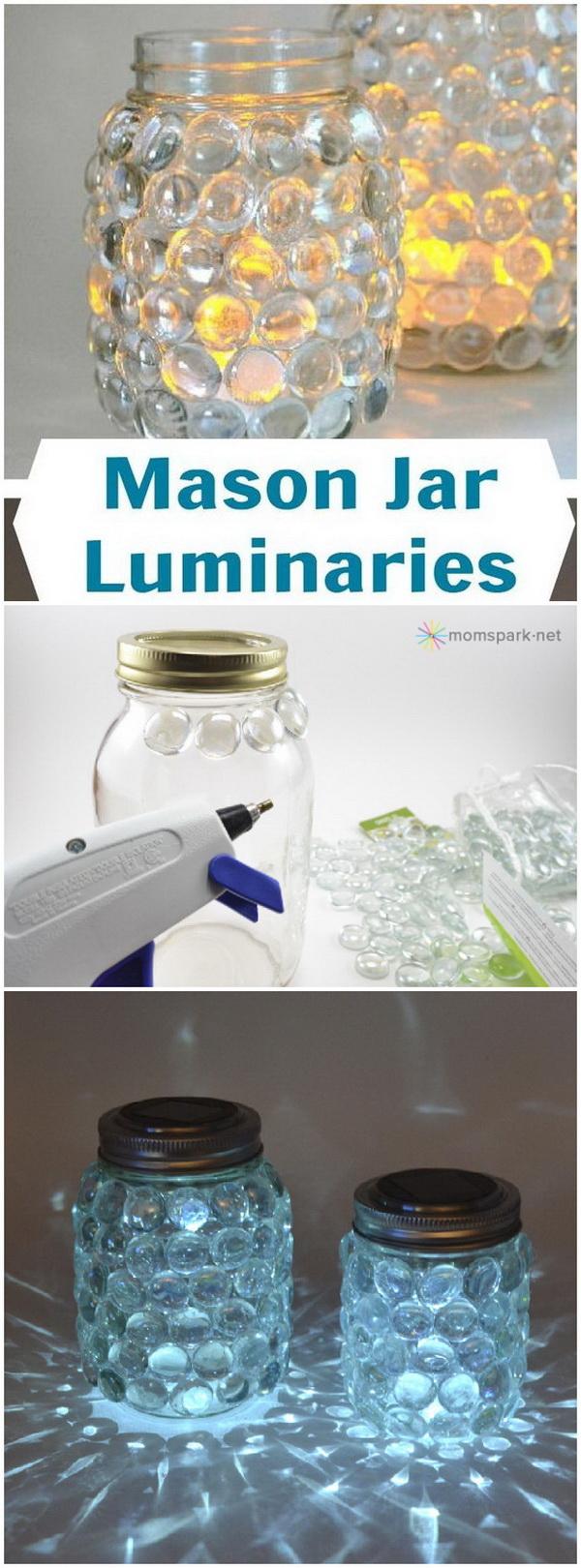 Easy Mason Jar Luminaries.