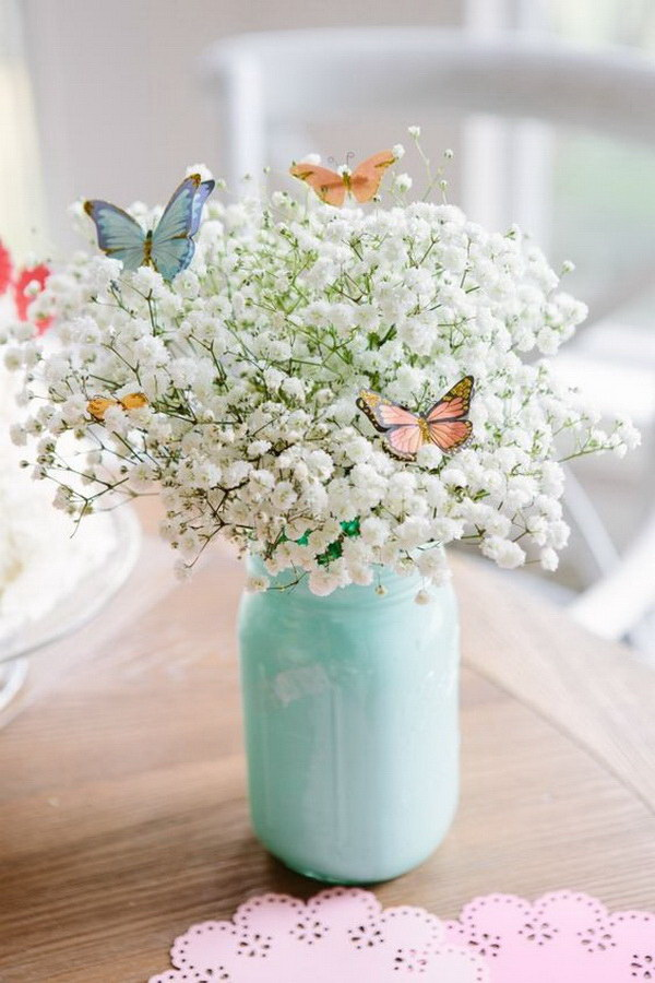Beautiful Butterfly Bouquet. So refreshing and beautiful for your spring decoration or used a homemade gift for Mother's Day!