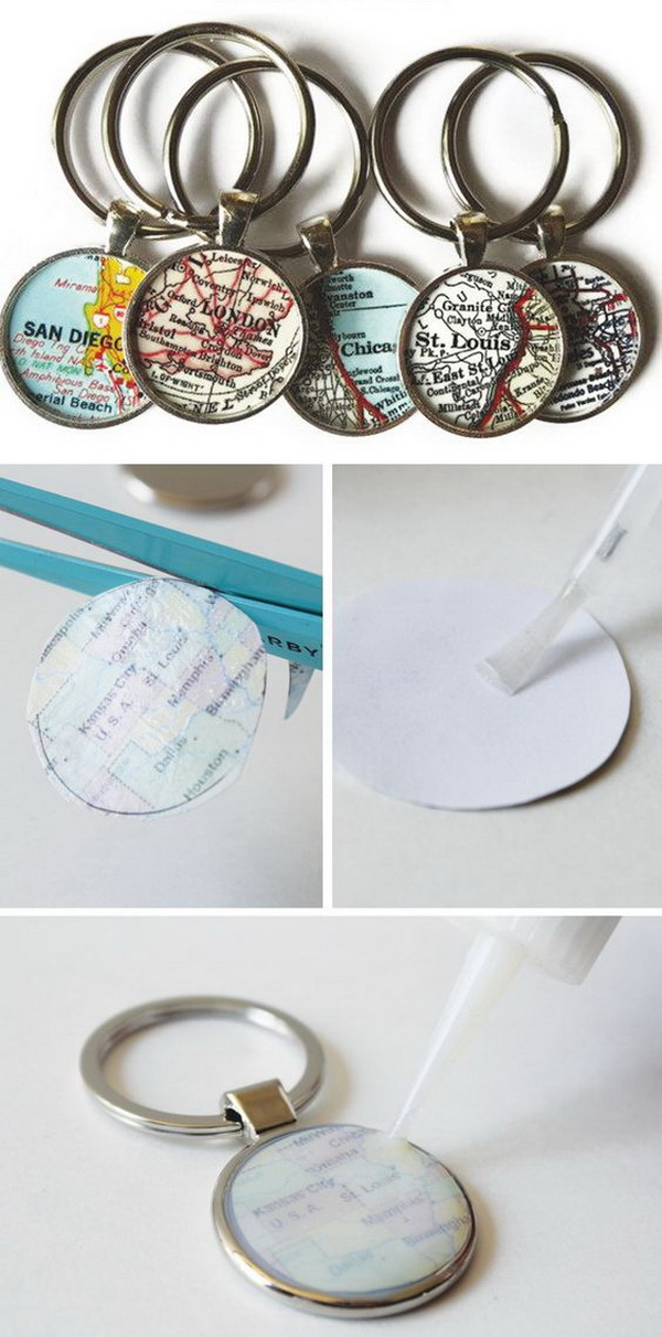 DIY Map Keychain.