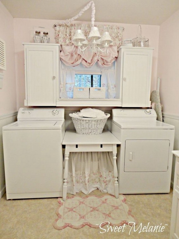 Shabby Chic laundry room.